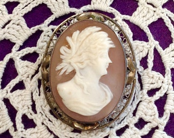 Cameo antique greek Goddesses - Sterling Silver- Amazing