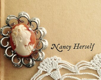 Cameo Sterling Marked AnnaLee- Collectible-Antique