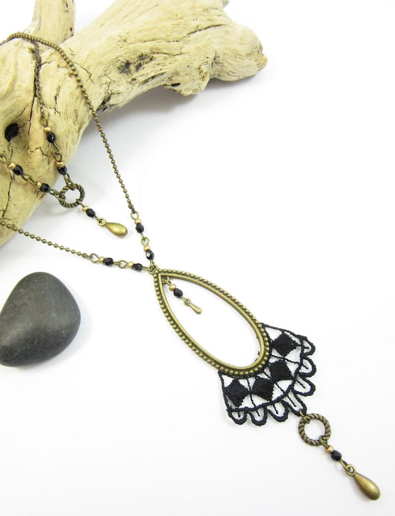 Brass Row Necklace