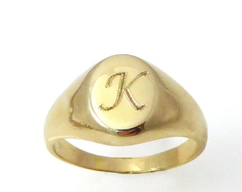 Gold monogram ring,Personalized ring, Unisex ring,personalized jewelry, Men initial ring, gold initial ring.monogram ring (2133)