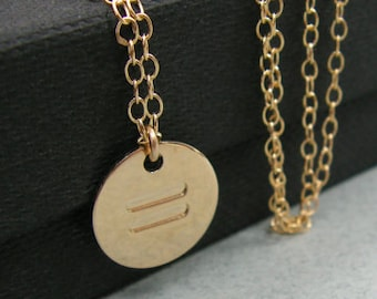 Equality necklace. Personalized gold disc equality necklace. Gold necklace. LGBT necklace. Gold disc necklace. Minimalist necklace. Gifts