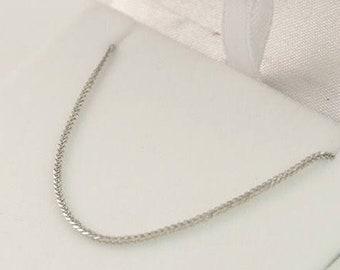14k white gold chain, gold necklace, white gold necklace, spiga chain. men gold chain. women gold chain. thick gold chain. yellow gold chain