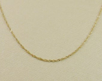 14k gold chain gold necklace yellow gold necklace spiga  9afa3a7984