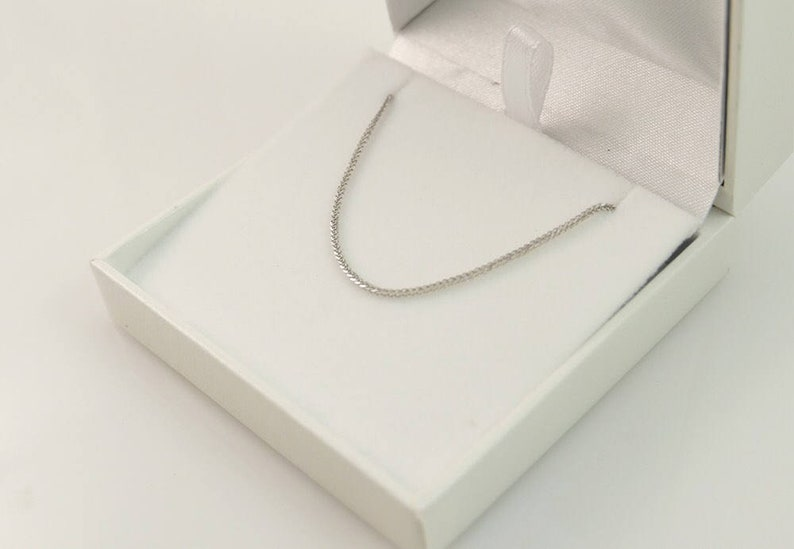 14k white gold chain gold necklace white gold necklace image 0