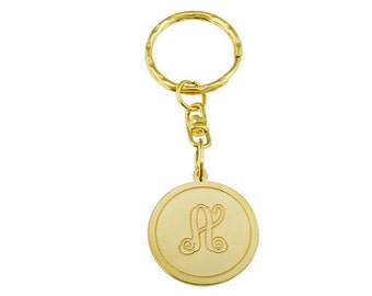 Monogram key chain. Gold monogram key chain. Personalized key chain. Gold key chain. Initial key chain. Gold monogram key chain. Gift ideas.