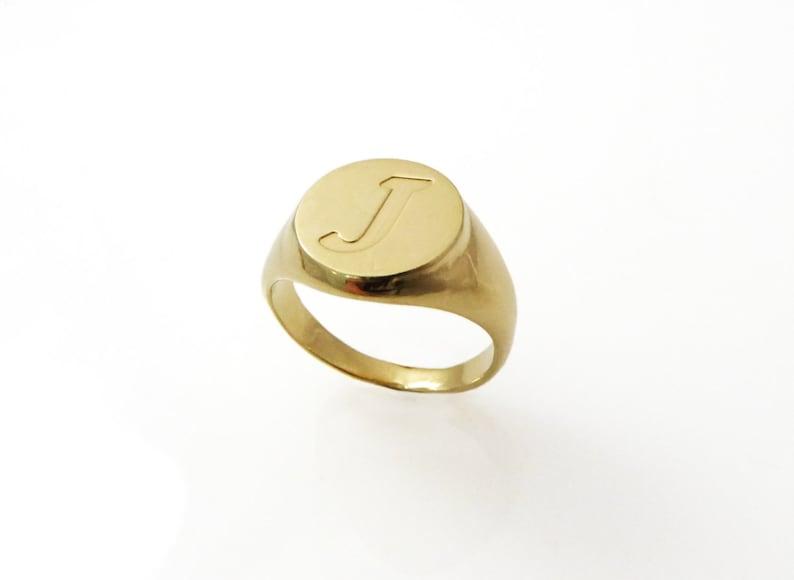 Pinky ring. Monogram ring. Unisex ring. Monogram ring. Initial image 0