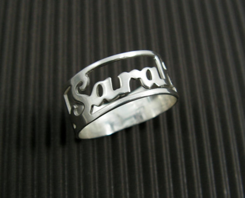 Name ring. Sterling silver ring. Personalized ring. Word ring. image 0