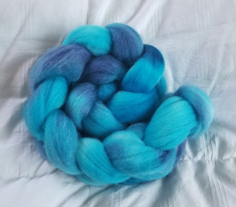 Tropical Waters 1 Hand Painted Cormo Wool