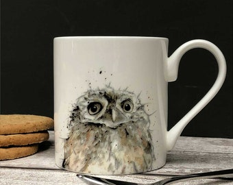 7980ce5ebea Owl Mug - Fine Bone China, Bird Lovers Gift, Country Kitchen, Christmas Gift,  Gift for Him, New Home Gift, Woodland Animals