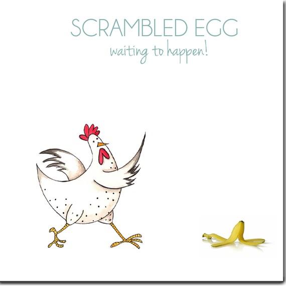 Huhn-Karte Rührei Henne lustiges Huhn Grußkarte innen   Etsy