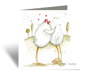 Be Mine Valentine's Card - Love Card, Anniversary Card, Valentine's Day Card