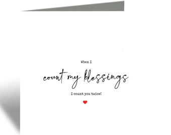 Count my blessings card