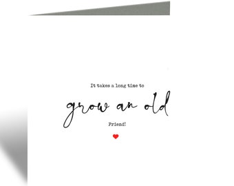 Grow an old friend card