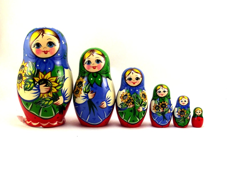 Nesting Dolls Russian matryoshka babushka. Stacking stackable image 0