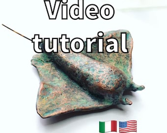 Polymer Clay tutorial, swellegant, polyclay lesson, diy video, manta ray sculpture, ocean, fimo, stingray, patina, digital download