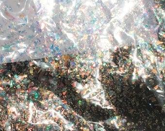 Small Glitter flakes, holographic, dichroic, mylar, shimmering glitter, angelina flakes, holographic rainbow, miniature flakes, nail glitter