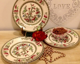 Vintage Indian Tree tea Plate made by Johnson Brothers.