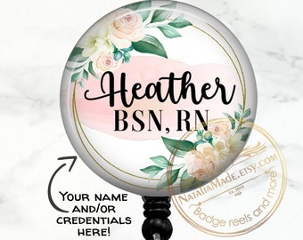 Monogram Stethoscope Id Tag Personalized Badge Reel Monogram Badge Reel Monogram Badge Holder Floral Retractable Badge Holder Style 980