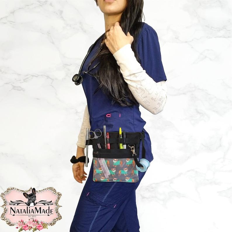 Nurse Utility Bag Vet Tech Hip Pack Medical Fanny Pack English Bulldogs in Scrubs Hip Organizer Bag Nurse Tool Belt Cute Nurse Bag