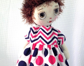 Doll clothes / outfit. Fit 18 inch  cloth doll and my own handmade rag dolls.