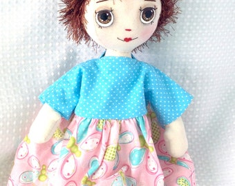 Doll dress, Doll clothes / outfit. To fit an 18 inch soft doll, such as  my own dolls.