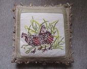 18 quot x 18 quot Vintage Ruffed Grouse Needlepoint Pillow