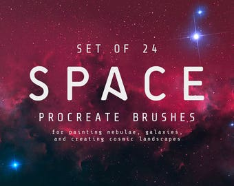 Set of 24 Space Procreate Brushes - Space art brushes Nebula brushes - For the iPad app Procreate - Digital brushes - Digital art resources