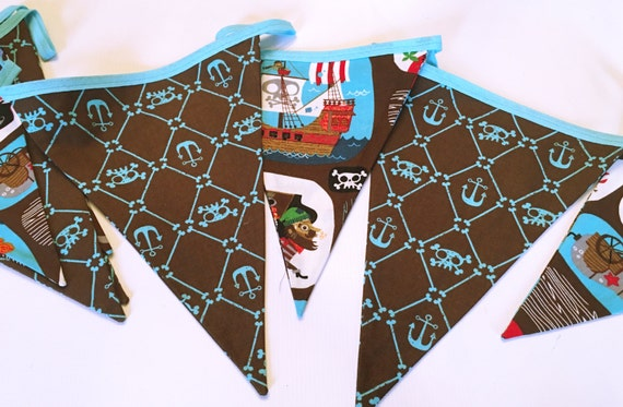SALE Pirate themed Fabric Bunting | Etsy