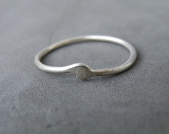 Friends/Lover Dainty Silver Ring, Collection The Way Out Is In, Meaningful Jewelry Gifts