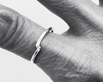Dainty Silver Stacking Ring, Women Mini Rings, Jewelry Gift Ideas For Wife, Mom and Friend