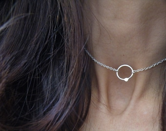 Collection The Way Out Is In, dainty pendant necklace, Minimal Jewelry, Back to Basics