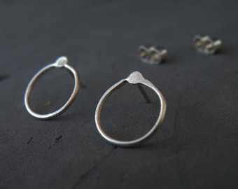 Collection The Way Out Is In, Silver dainty stud earrings, Meaningful Gifts, Back to Basics