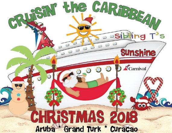 Noël - carnaval croisière vacances t shirt imprimé - Noël BASIC DESIGN 2f1895