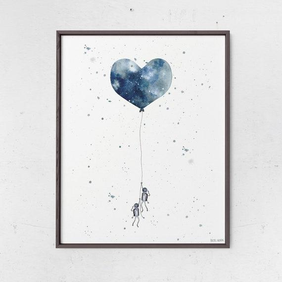 photo relating to Balloon Printable identify Astronaut Room Moon Balloon Printable Electronic Printable Middle Balloon Printable Area Nursery Decor Watercolor Printable House Artwork