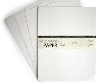 Hemp Paper Cream / Straight Edge; 8.5x11 - 25 Sheets PH0031