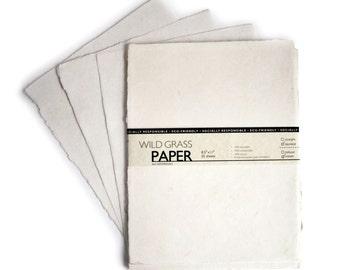 Hemp Paper Cream / Deckled Edge; 8.5x11 - 25 Sheets - PH2102