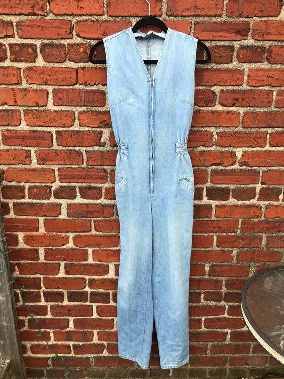 Hallsboro 70's Vintage Denim Overalls. Perfect Fit