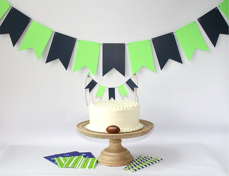 Seattle Seahawks Inspired 12th Man Cake Bunting Pennant Flag