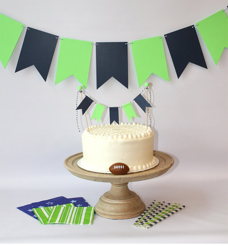 Seattle Seahawks Inspired 12th Man Wall Banner Cake Bunting