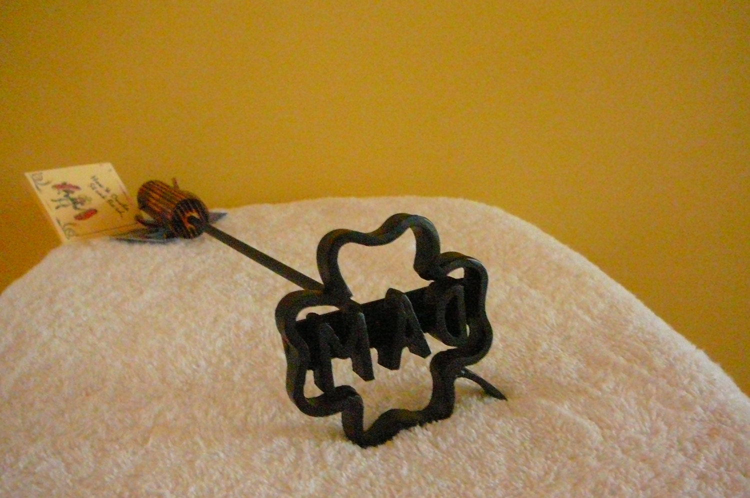 The Lucky Four Leaf Clover Steak Branding Iron With 1 Letteror