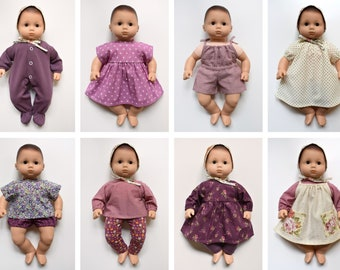 Bitty Baby Doll Clothes Patterns, Set of 12 PDF Doll Clothing Patterns for 15 inch Bitty Baby dolls
