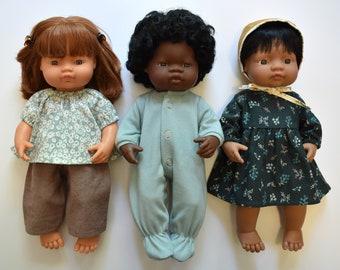 Miniland Doll Clothes Patterns, Set of 12 PDF Doll Clothing Patterns for 38 cm Miniland Dolls