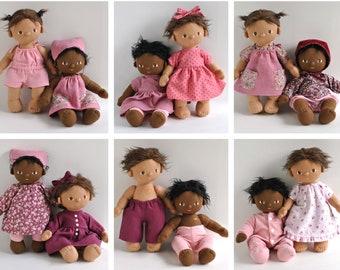 Dinkum Doll Clothes Patterns, Set of 12 PDF Doll Clothing Patterns for Dinkum Dolls