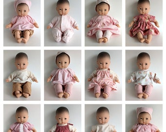 12 Inch Doll Clothes Patterns, Set of 12 PDF Doll Clothing Patterns for 12 Inch (30-31cm) Baby Dolls