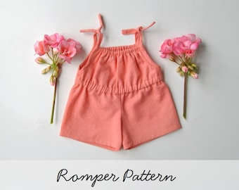 Romper Pattern for the Wild Marigold Waldorf Baby Doll, Doll Clothes Pattern, Doll Romper Pattern