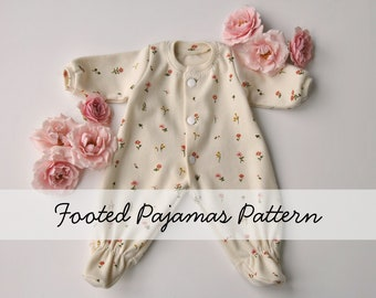 Doll Footed Pajamas Pattern for the Wild Marigold Waldorf Baby Doll, Doll Clothes Pattern, Doll Sleeper Pattern