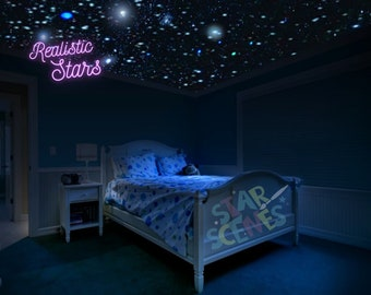 Best Quality Glow in the Dark Stars, Tiny Star Stickers for Space Nursery Decor, Star Ceiling Decals, DIY Night Sky Wall Art, Ceiling Stars