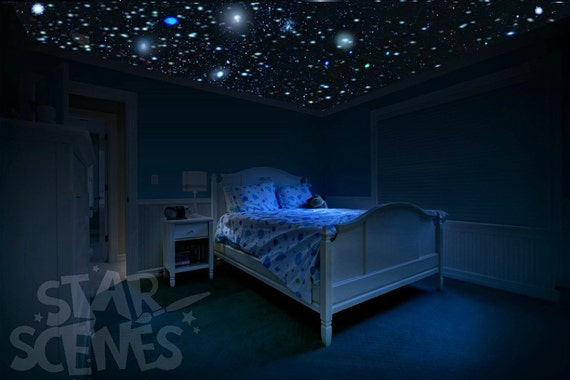 Best Quality Glow In The Dark Stars Night Sky Ceiling Etsy - How-to-make-a-starry-night-ceiling-in-the-bedroom