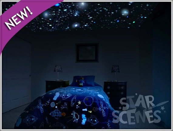 Reusable Realistic Glow Stars 250x Glow In The Dark Star | Etsy