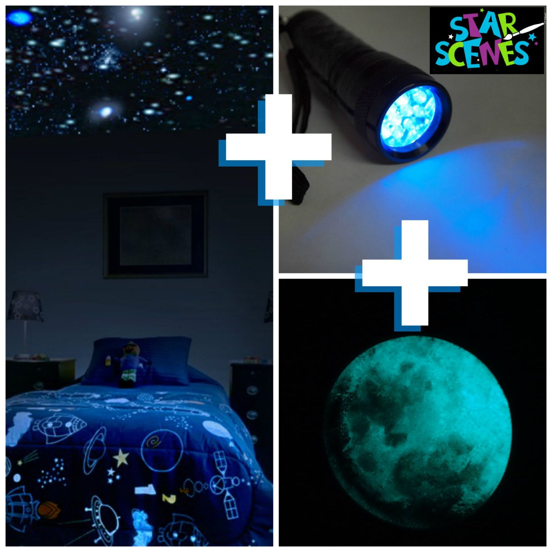 Glow In The Dark Stars Moon Package For Kids Room Or Nursery Etsy